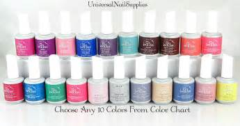 gel colors ibd gel nail choose any 10 colors from color chart