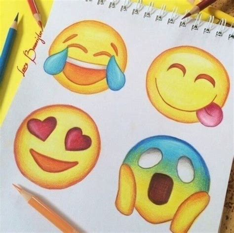 emoji drawings cute draw drawings emoji happy love lovely smiley