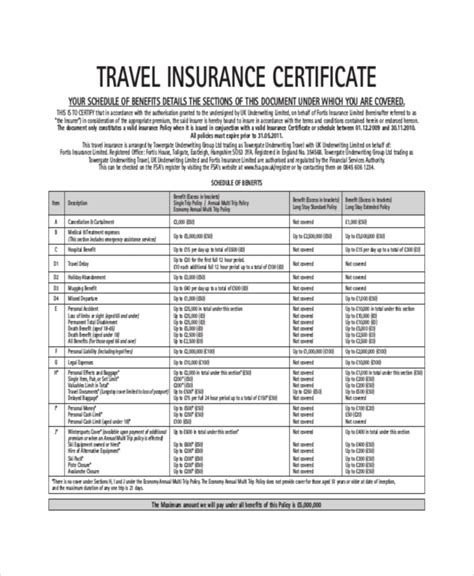 Insurance Certificate Template 10 Free Word Pdf Documents Download Free Premium Templates Certificate Of Insurance Template
