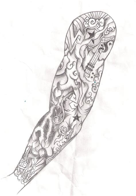 Tattoo Sleeve Design Template Amazing Tattoo Sleeve Template