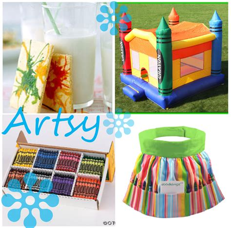 art themed events art party ideas for any arts crafts party thoughtfully