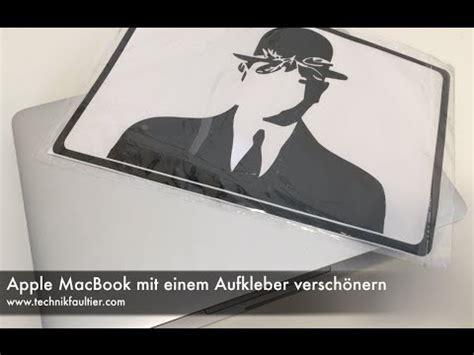 Aufkleber Apple Watch by Apple Macbook Mit Einem Aufkleber Versch 246 Nern Youtube
