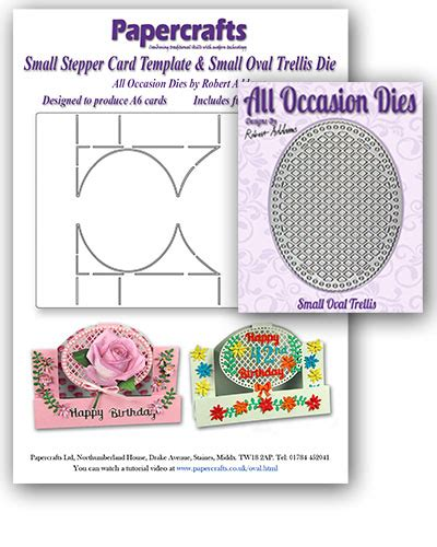 card template dies small oval stepper card template small oval trellis die papercrafts