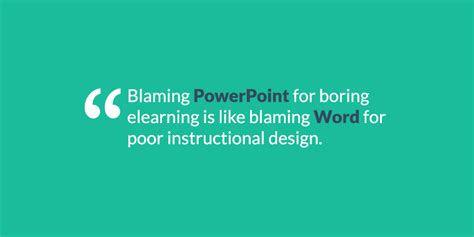 instructional design using powerpoint blaming powerpoint for boring e learning blaming word
