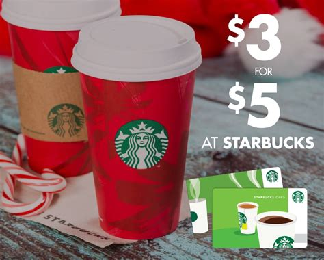 Buy 5 Starbucks Gift Card - 3 for a 5 starbucks gift card live at 2 30pm est buytopia
