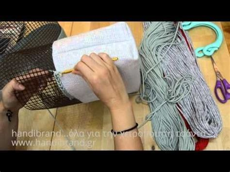 tutorial rajut jaring τεχνική καμβά για τσάντες σχοινί για τσάντες youtube