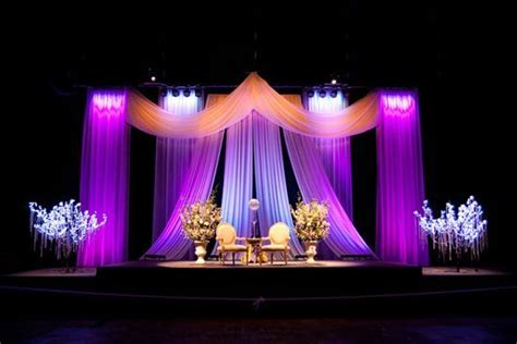 stage draping elegant ceiling draping on center stage with shinning