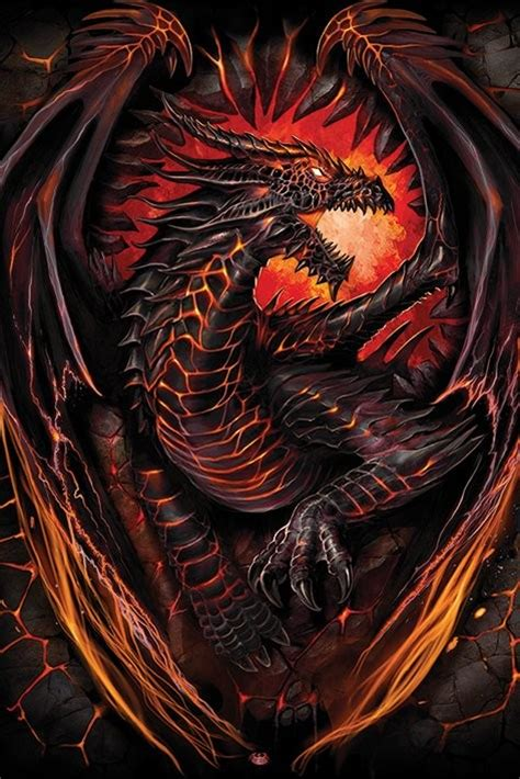 Next Wall Stickers spiral dragon furnace poster sold at europosters
