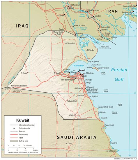 kuwait map in world kuwait maps