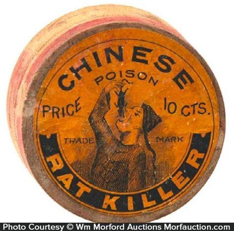 killer box antique advertising poison rat killer box