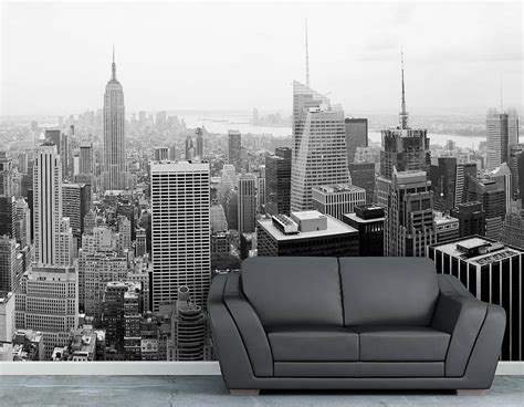 new york wall mural new york city self adhesive wallpaper mural contemporary wall stickers