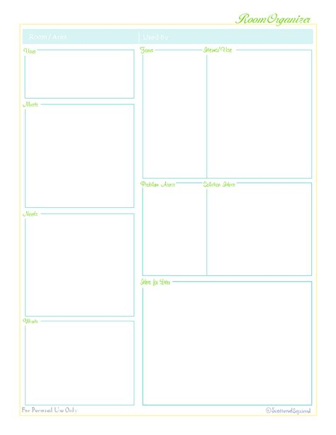 room organizer online laying the foundation and a free printable scattered
