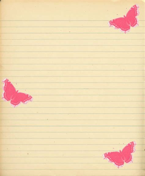 butterfly writing paper 10 images about lined paper on journal pages