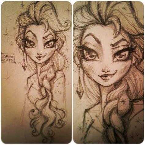 doodle sketch frozen darko dordevic with a earring frozen elsa