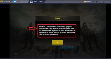 bluestacks windows mobile solution for device not supported message from pubg mobile