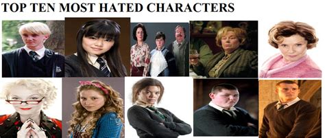 best harry potter characters list of favorite characters my top 10 most hated harry potter characters by
