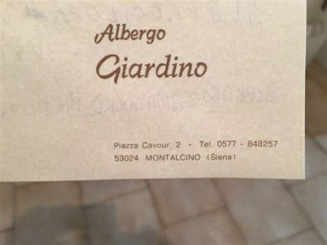 albergo giardino montalcino albergo giardino montalcino italien omd 246 och