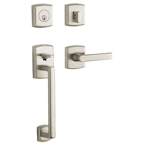 baldwin front door locks front door handlesets shop schlage satin nickel single