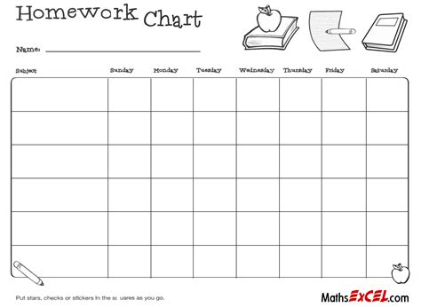 homework template homework timetable templates