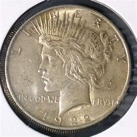 1 dollar silver coin 1922 1922 p peace dollar for sale buy now item 144690