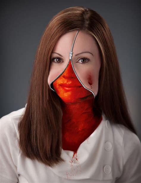photoshop tutorial zipper face zippered face in photoshop graphic