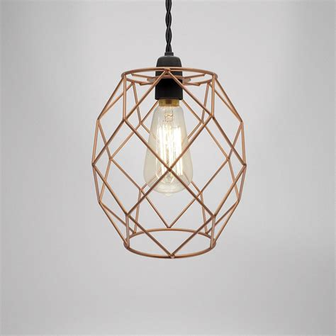 Metal Chandelier Shades Modern Industrial Black White Copper Metal Cage Wire Pendant Light Chandelier Ebay
