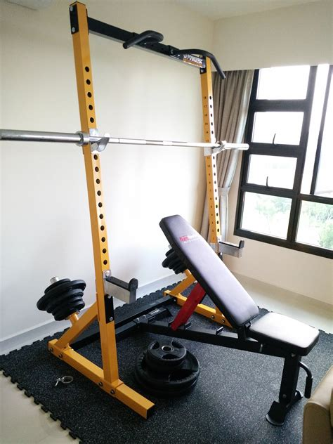 Used Power Racks For Sale by Powertec In Singapore Powertec Half Rack For Sale In