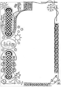 bos card template illuminated manuscript borders vines celtic knot vines
