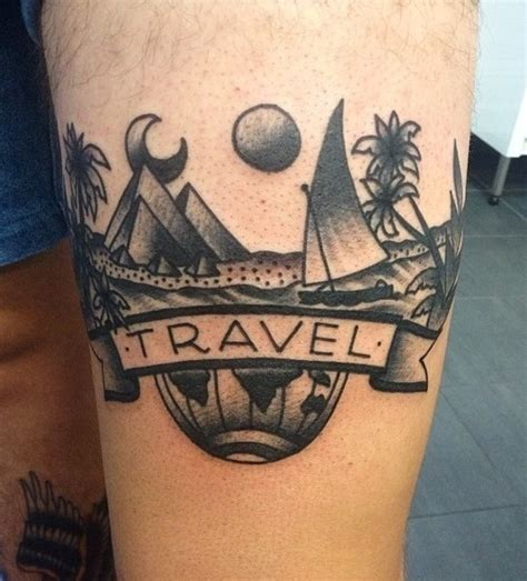 travel themed tattoos 25 travel themed tattoos that ll give you instant wanderlust