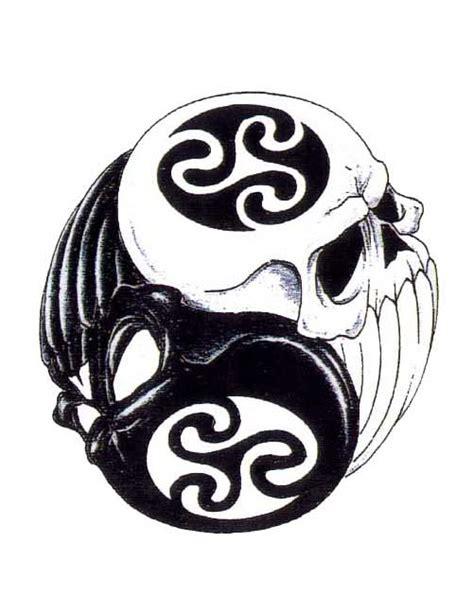 yin yang tattoo flash yin yang skull tattoo free design ideas