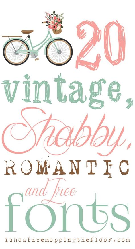 free vintage shabby and romantic fonts instant