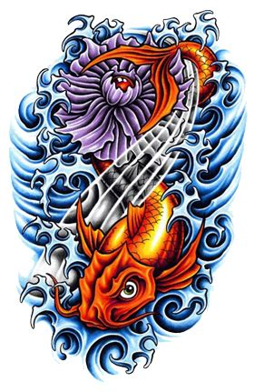 tattoo design color keren png fish tattoos png transparent images png all
