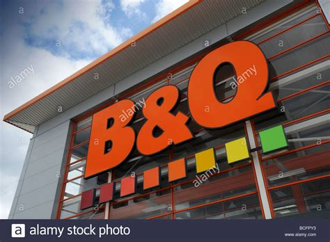 b q diy store sign and logo in halesowen west midlands b