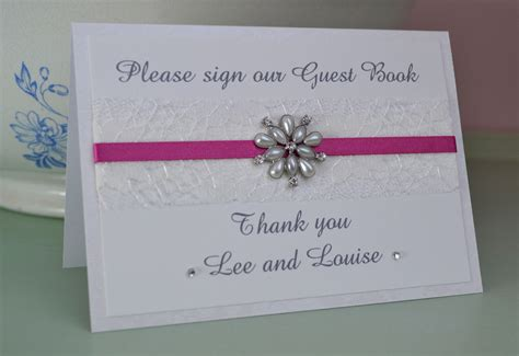 Personalised Wedding Guest Book Handmade - handmade personalised wedding guest book sign