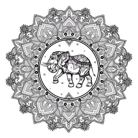 elephant mandala coloring books mandala elephant 123rf mandalas coloring pages for