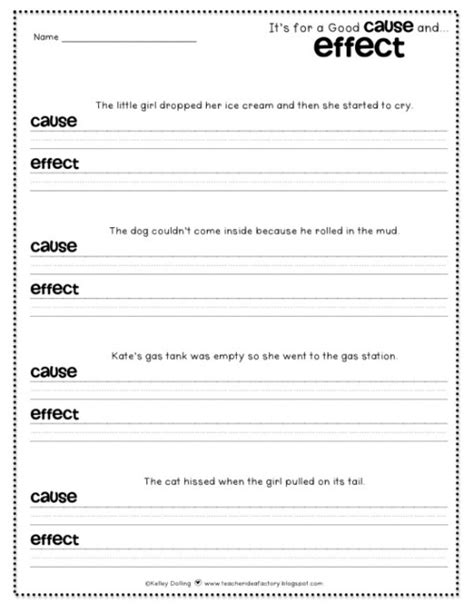 Entry Organizer by 12 Easy Cause And Effect Activities And Worksheets Teach