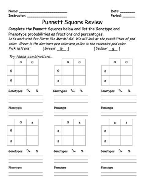 Punnett Square Practice Worksheet by Punnett Square Worksheet Worksheets For School Getadating