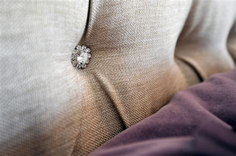 tufted headboard with crystal buttons headboard detail