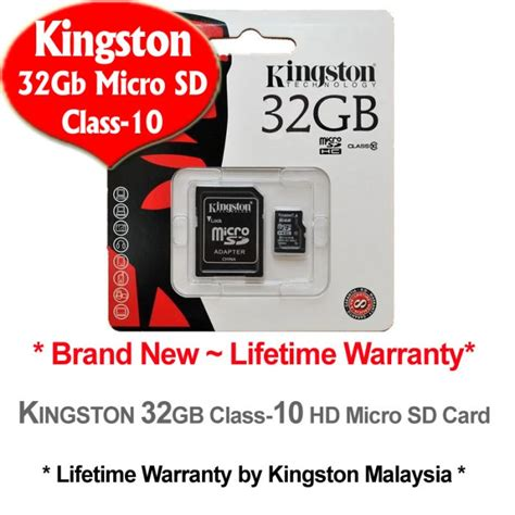 Memory Micro Sd Kingston 32gb Class10 Sdc10 1 kingston 32gb micro sdhc class 10 flash memory card