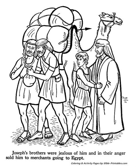 coloring pages for joseph and his brothers joseph sold into testament coloring pages
