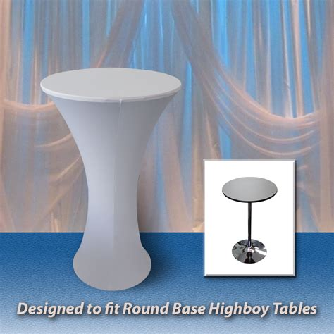 High Chair Table Cover by Highboy Base Spandex Fitted Table Covers Premier Table Linens