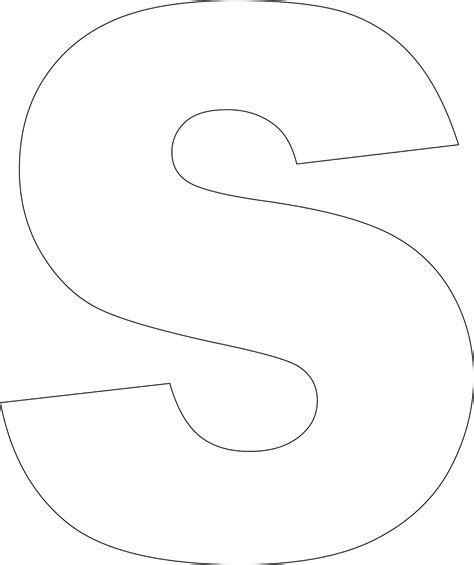 letter s template free printable lower alphabet template alphabet
