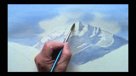 watercolor tutorial mountains painting mountains in watercolor