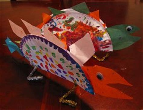 Stegosaurus Paper Plate Craft - 16 best images about dinosaurussen on