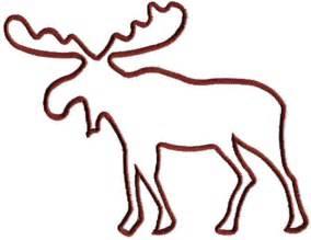 moose outline embroidery design annthegran