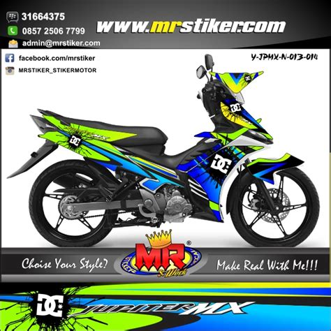 Decal Striping Sticker Jupiter Mx New 013 Glossy byson new sun moon stiker motor striping motor suka suka decal motor mr stiker