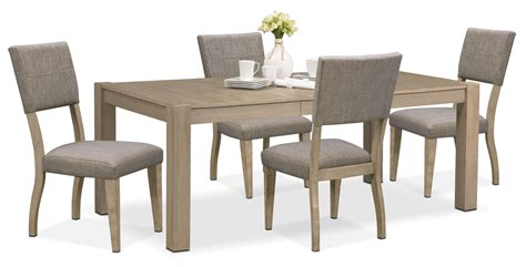 Tribeca Dining Room Furniture by Tribeca Table And 4 Upholstered Side Chairs Gray
