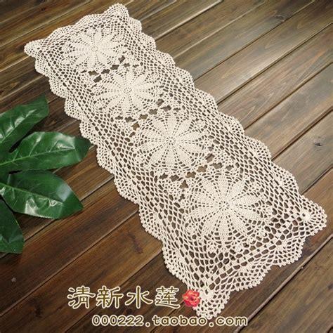 Zakka Vintage Table Runner free shipping zakka fashion cotton crochet lace table