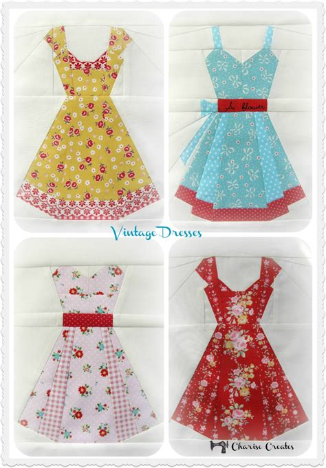 pattern for vintage dress vintage dresses a paper piecing pattern