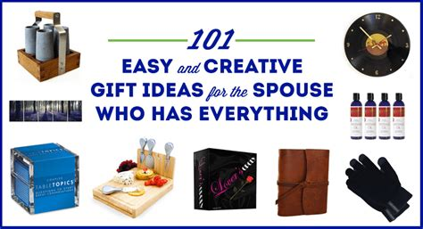 101 easy and creative christmas gift ideas for the spouse